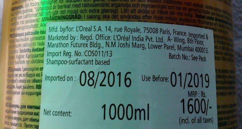 L'Oreal Professionnel Mythic Oil Shampoo 2