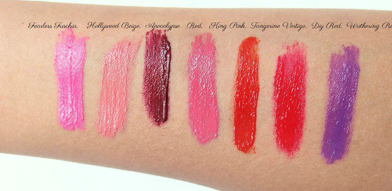 L'oreal Infallible Lip Paint Fearless Fuschia, Hollywood Beige, Apocalypse Red, King Pink, Tangerine Vertigo, Diy Red, Wuthering Purple