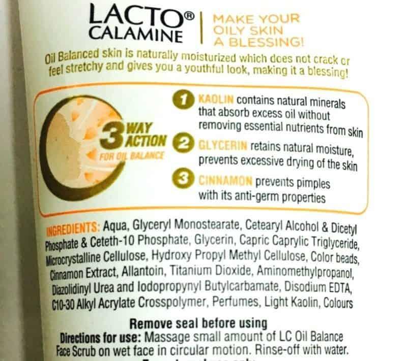 Lacto Calamine Oil Balance Face Scrub 3