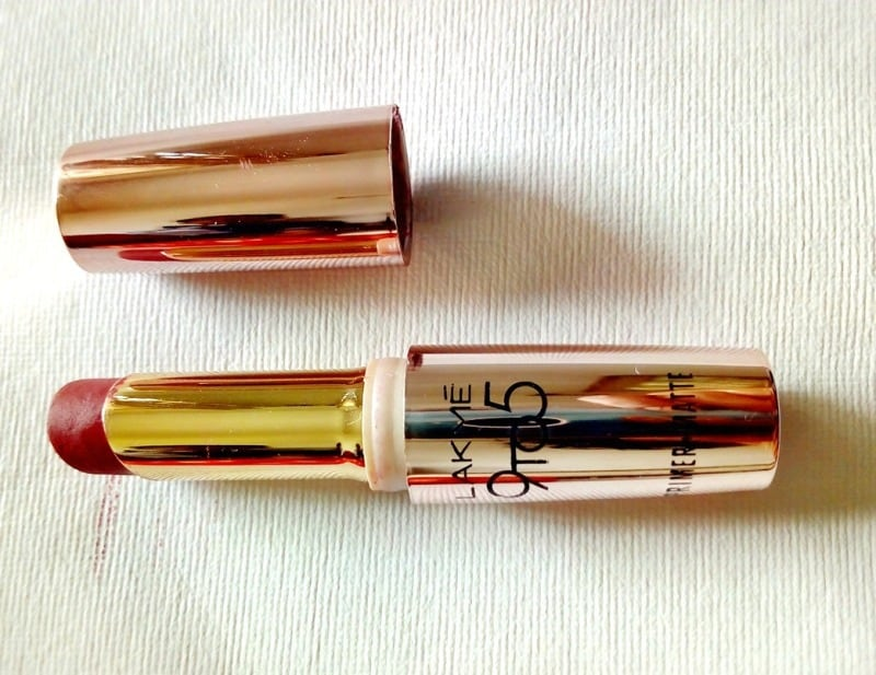 Best Maroon Lipstick : Lakme 9 To 5 Primer +Matte Maroon Mix 3