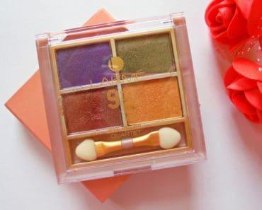 Lakme 9 to 5 Eye Color Quartet Tanjore Rush Review 1