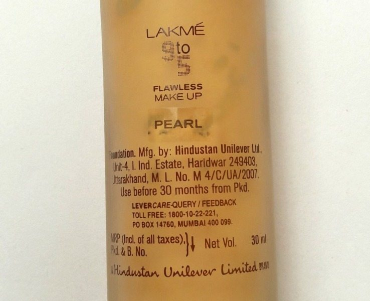 Lakme 9 to 5 Flawless Makeup Foundation Review 3