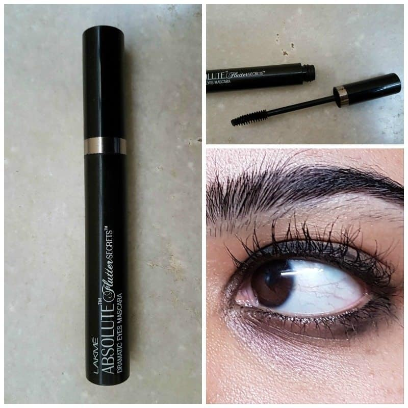 Lakme Absolute Flutter Secrets Dramatic Eyes Mascara Review 5