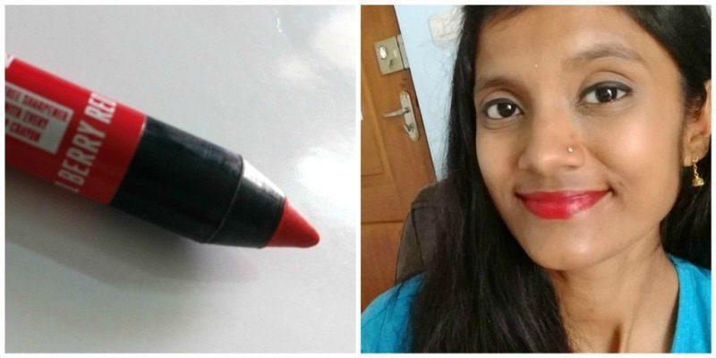 Lakme Enrich Lip Crayon Berry Red 3