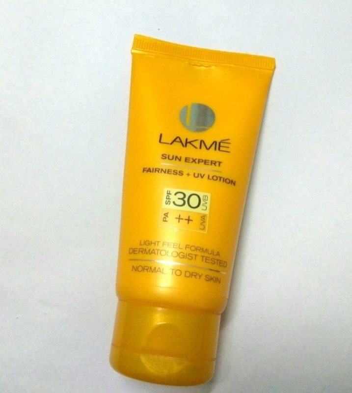 Lakme Sun Expert Normal to Dry Skin Fairness + UV Lotion SPF 30 PA++ Review