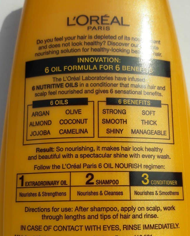 Loreal Hair Conditioner Loreal 6 Oil Nourish Conditioner