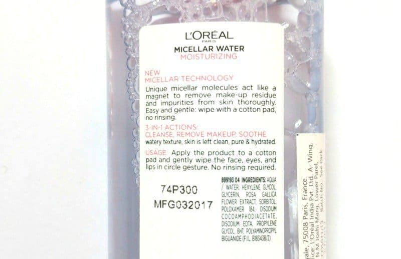 Loreal Paris 3 in 1 Moisturizing Micellar Water 1