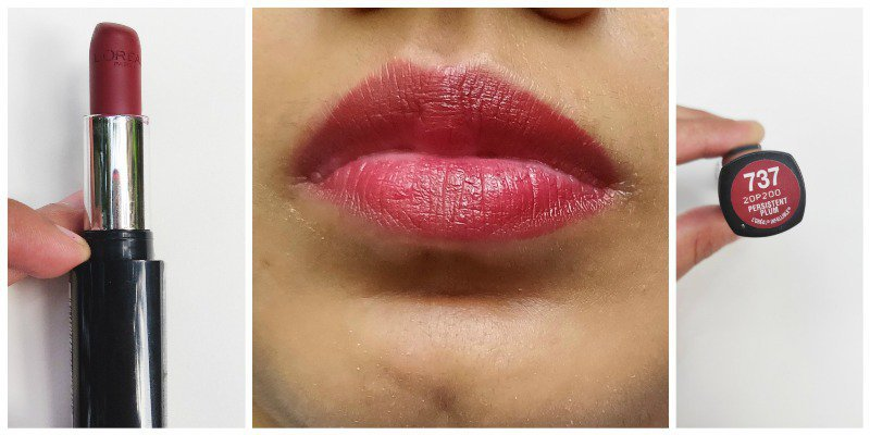 Loreal Persistent Plum Infallible Le Rouge Lipstick