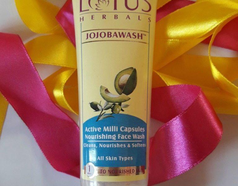 Lotus Herbals Jojobawash Active Milli Capsules Nourishing Face Wash