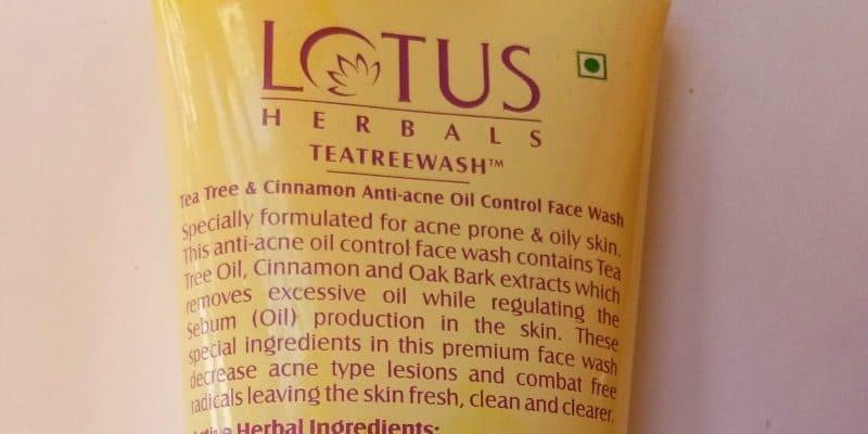 Lotus Herbals Teatreewash Anti Acne Oil Control Face Wash Review 2