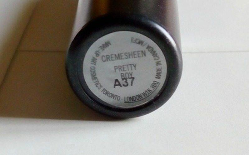 MAC Pretty Boy Cremesheen Lipstick 3