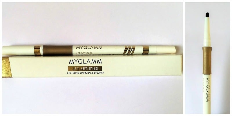 MYGLAMM Jet Set Eyes 2-in-1 Kajal + Eyeliner