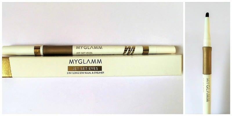 MYGLAMM Jet Set Eyes 2-in-1 Kajal + Eyeliner