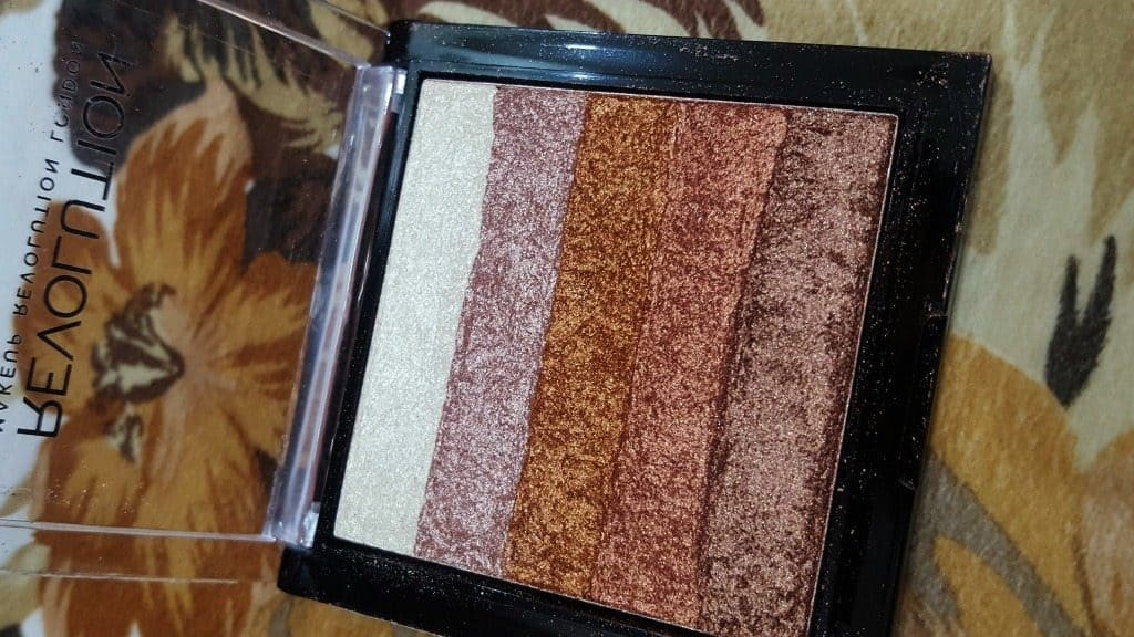 Makeup Revolution London Shimmer Brick Rose Gold Review 2