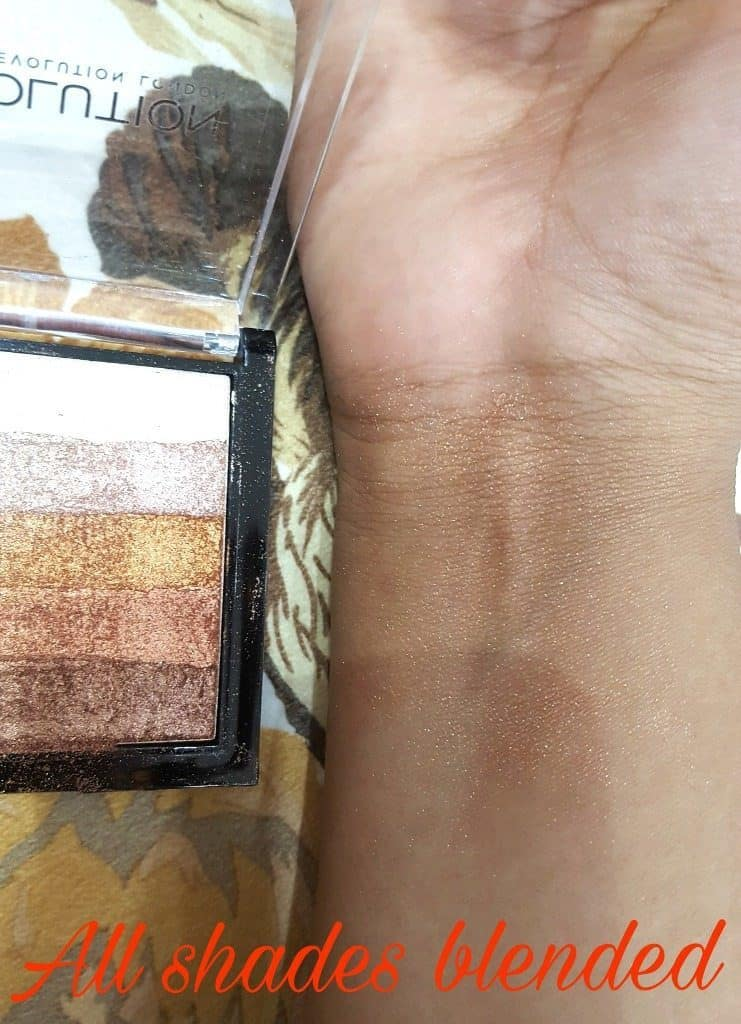 Makeup Revolution London Shimmer Brick Rose Gold Review 4
