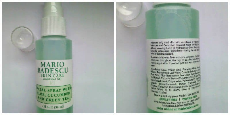 Mario Badescu Skin Care Facial Spray With Aloe Cucumber And Green Tea