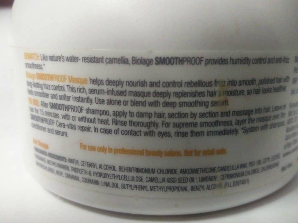 Matrix Biolage Deep Smoothing Masque Review 4