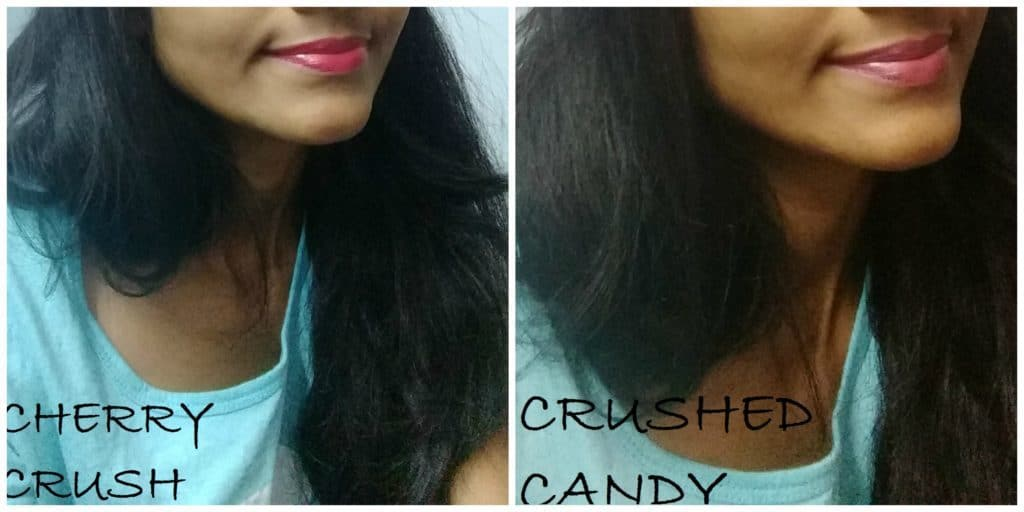 Maybelline Color Show Lipstick Crushed Candy and Cherry Crush Review 8