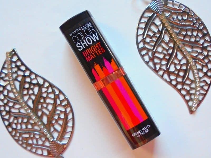 Maybelline Blazing Orange Colorshow Bright Mattes Lipstick