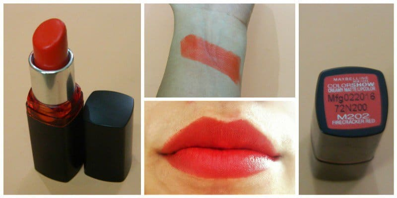 Maybelline Firecracker Red Lipstick