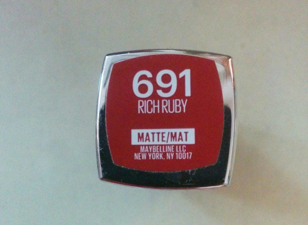 Maybelline Rich Ruby Crème Matte Lipstick Review