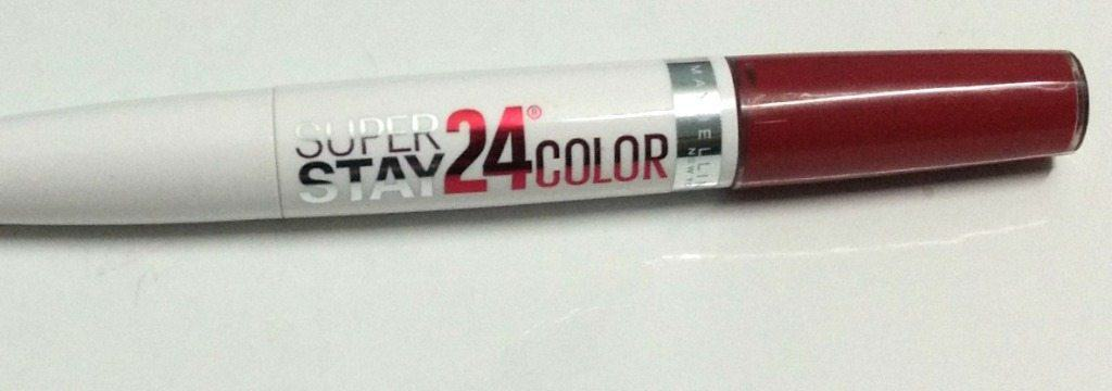 Maybelline Superstay 24 hr Lip Color Keep it Red Review 1