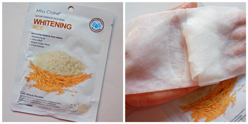 Miss Claire Nature Essence Face Mask Whitening Rice
