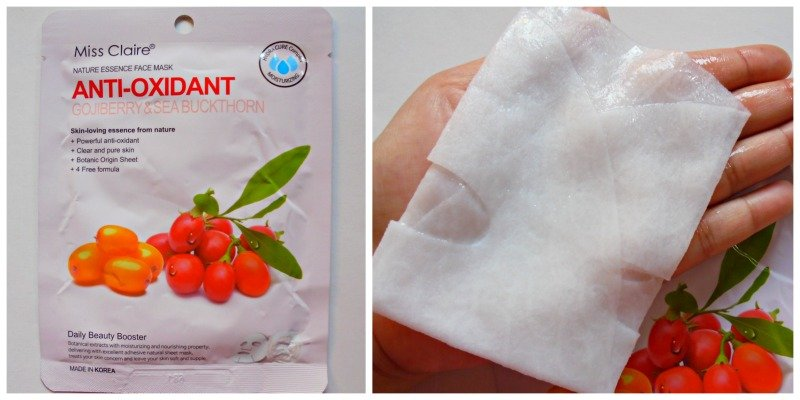 Miss Claire Nature essence Face Mask Anti-Oxidant Gojiberry & Sea Buckthorn