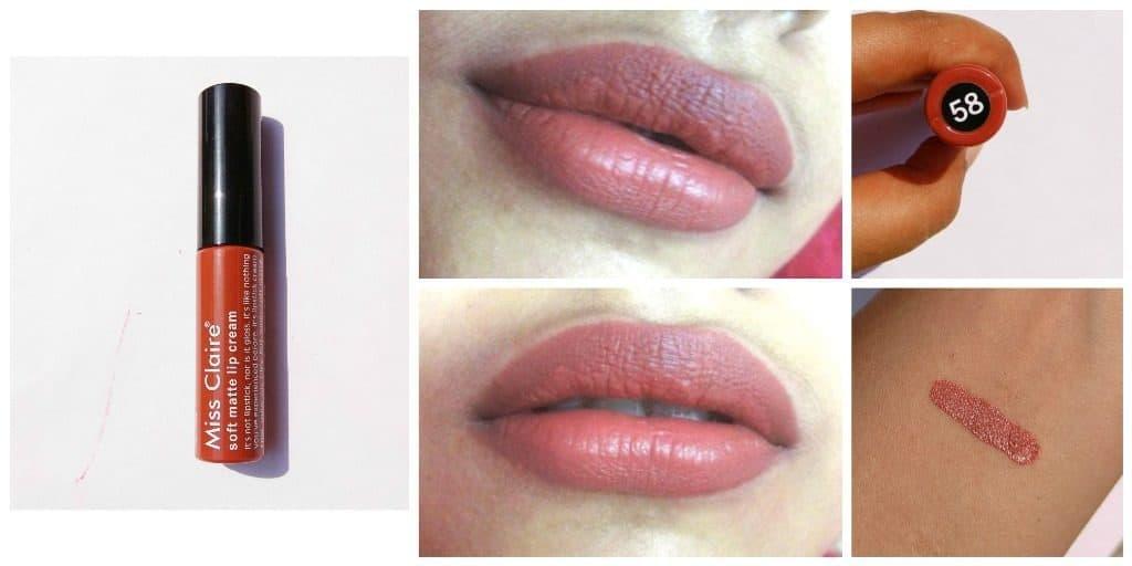 Miss Claire Soft Matte Lip Cream 58