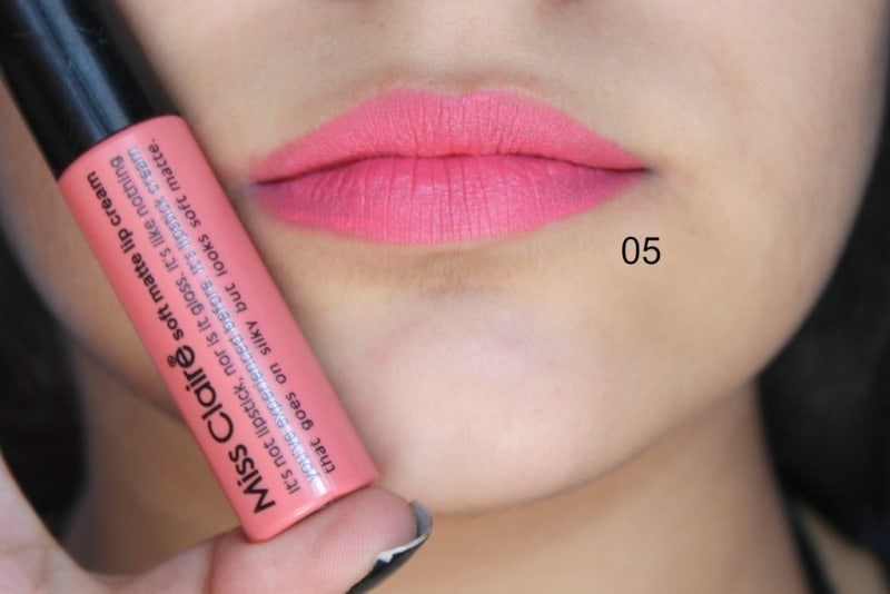 Miss Claire Soft Matte Lip Creams Miss Claire Soft Matte Lip Cream 01 , 05 ,07 , 16A , 17 ,27 4
