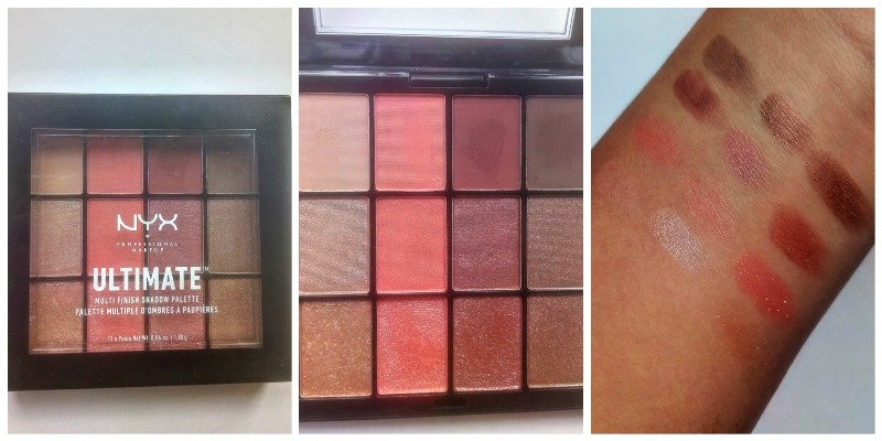 NYX Ultimate Multi Finish Shadow Palette Warm Rust