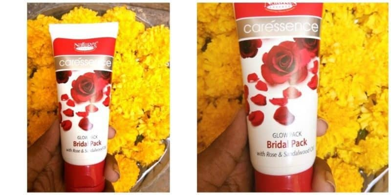 Nature's Essence Caressence Bridal Glow Face Pack Review 4