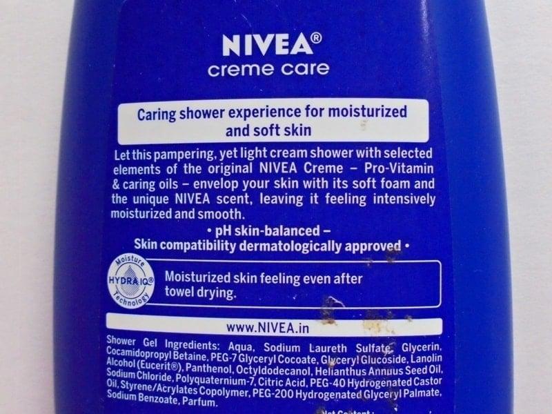 Nivea Creme Care Cream Shower Review 3