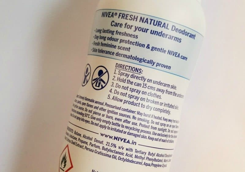 Nivea Fresh Natural Deodorant Spray Review 3