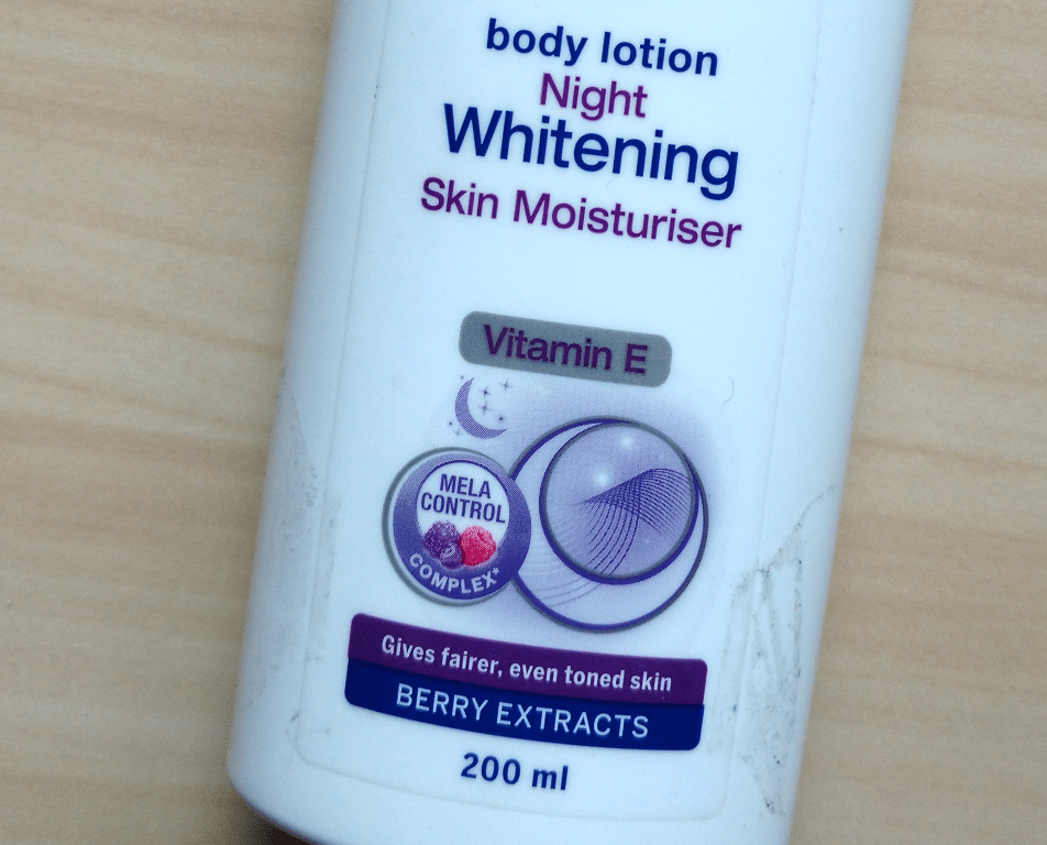 Nivea Night Whitening Body Lotion Review 1