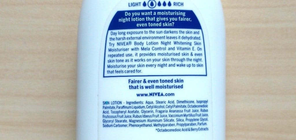 Nivea Night Whitening Body Lotion Review 2