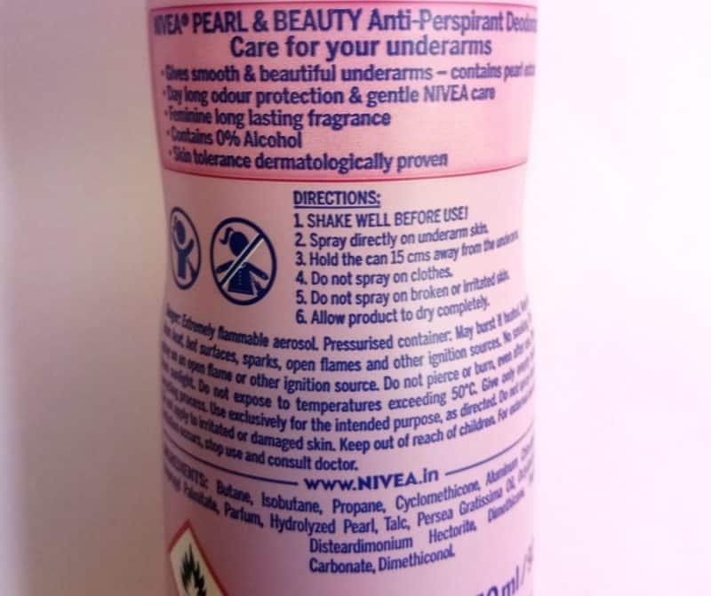 Nivea Pearl & Beauty Deodorant Review