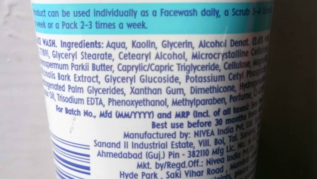 Nivea Total Face Cleanup Face Wash Review 3