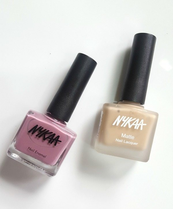 Nykaa Nail Enamel Blackcurrant Gelato and Milk Chocolate Review
