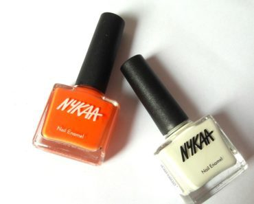 Nykaa Nail Enamel Orange Fizz and Marshmallow Dream