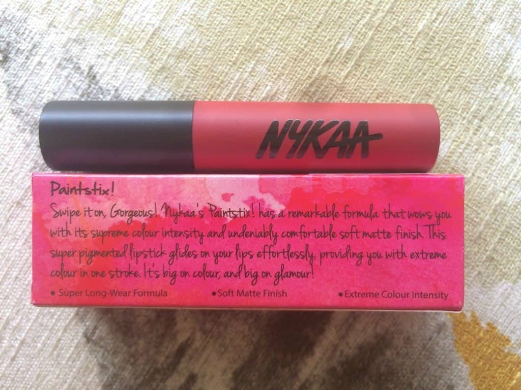 Nykaa Paintstix Lipstick Chick Flick Pink Review 2