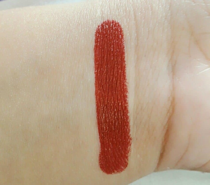 Nykaa Paintstix Lipstick Rebellious Red Review 2