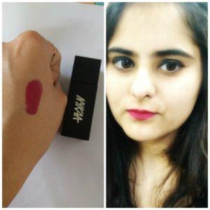 Nykaa So Matte Cranberry Sangria Lipstick 3