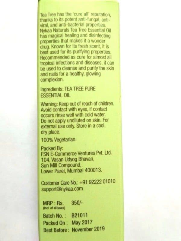 Nykaa Tea Tree Oil 3