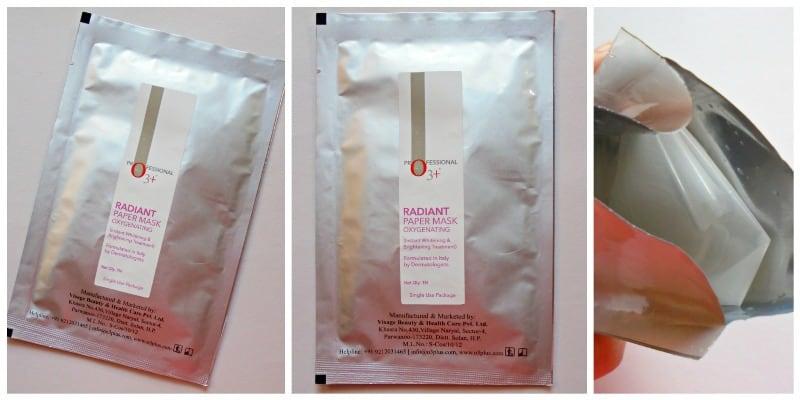 O3+ Radiant Paper Mask Oxygenating