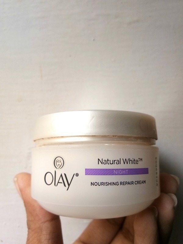 Olay Natural White Night Nourishing Repair Cream Review 1
