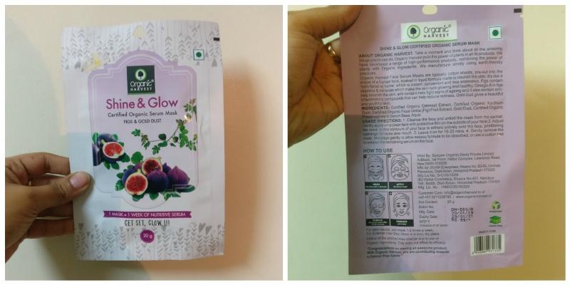 Organic Harvest Sheet Mask Figs & Gold Dust