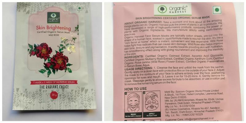 Organic Harvest Sheet Mask Wild Rose