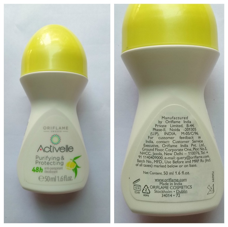 Oriflame Activelle Purifying And Protecting Anti Perspirant Roll On