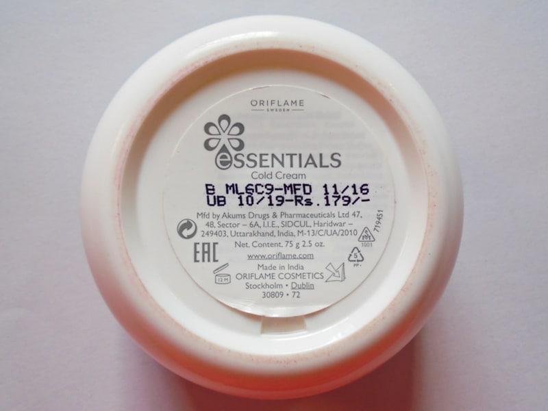 Oriflame Essentials Cold Cream Review 2